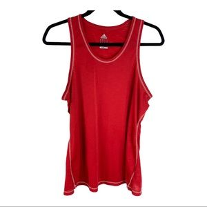 Adidas Size XL Womens Red Climalite Tank Top